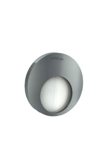 MUNA Ledix, Grafit szín, hidegf. 5900K, 230V, IP20, süllyesztett, fényerőszabályozható, 02-224-31