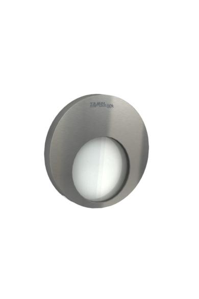 MUNA Ledix, Rozsdamentes szín, hidegf. 5900K, 230V, IP20, süllyesztett, fényerőszabályozható, 02-224-21