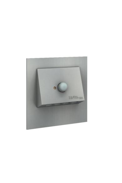 NAVI Ledix, ALU szín,  hidegf. 5900K, 230V, IP20, süllyesztett, mozgásérzékelővel, 11-222-11