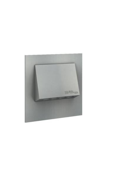 NAVI Ledix, ALU szín, hidegf. 5900K, 230V, IP20, süllyesztett, fényerőszabályozható, 11-224-11