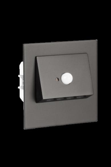 NAVI Ledix, Fekete szín,  hidegf. 5900K, 230V, IP20, süllyesztett, mozgásérzékelővel, 11-222-61