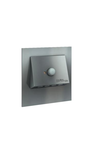 NAVI Ledix, Grafit szín, melegf. 3100K, 230V, IP20, süllyesztett, mozgásérzékelővel, 11-222-32
