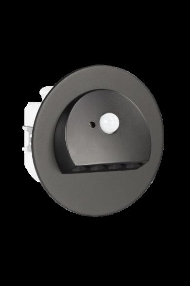 RUBI Ledix, Fekete szín, melegf. 3100K, 230V, IP20, süllyesztett, mozgásérzékelővel, 09-222-62