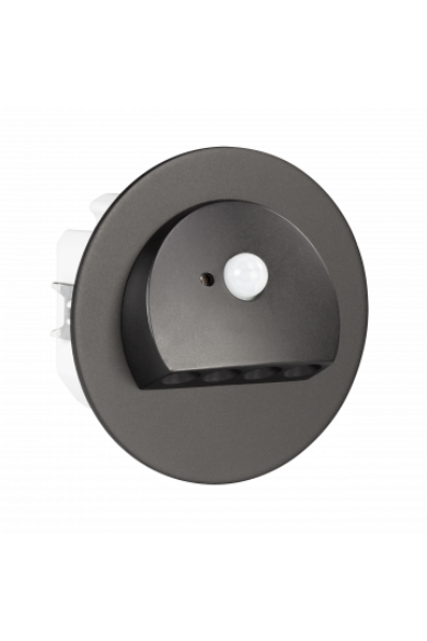 RUBI Ledix, Fekete szín,  hidegf. 5900K, 14V, IP20, mozgásérzékelővel, 09-212-61