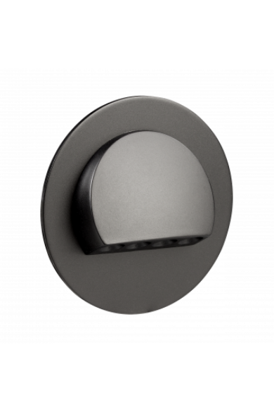 RUBI Ledix, Fekete szín,  hidegf. 5900K, 230V, IP20, süllyesztett, 09-221-61