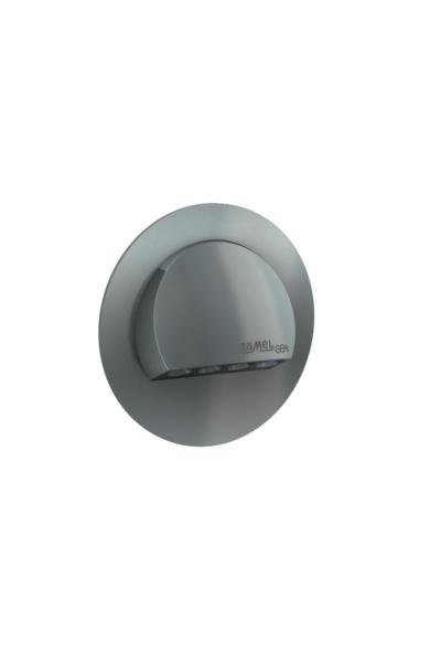 RUBI Ledix, Grafit szín, melegf. 3100K, 14V, IP20, süllyesztett, fényerőszabályozható, 09-214-32