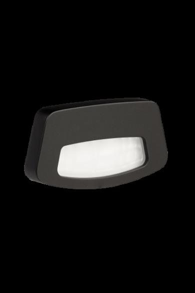 TERA Ledix, Fekete szín, hidegf. 5900K, 14V, IP44, felületre szerelhető, 03-111-61