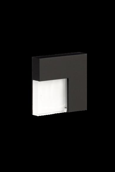 TICO Ledix, Fekete szín, melegf. 3100K, 14V, IP44, felületre szerelhető, 04-111-62
