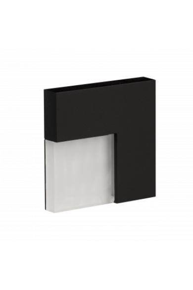 TIMO Ledix, Fekete szín, hidegf. 5900K, 14V, IP44, felületre szerelhető, 06-111-61