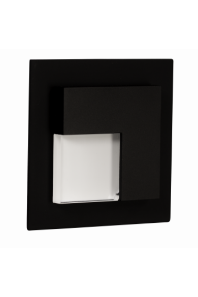 TIMO Ledix, Fekete szín,  hidegf. 5900K, 230V, IP20, süllyesztett, 07-221-61