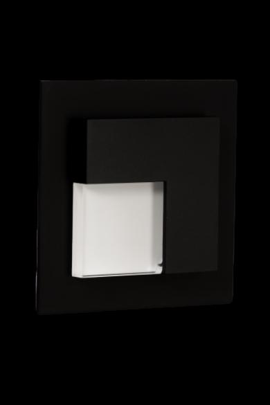 TIMO Ledix, Fekete szín, hidegf. 5900K, 230V, IP20, süllyesztett, fényerőszabályozható, 07-224-61