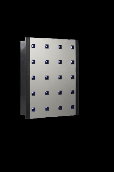 Kétszólamú gong, 230V, antracit, 412-VDE-SRB
