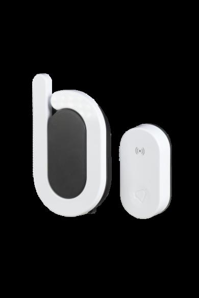"""Vezeték nélküli csengő szett """"BOOM II"""", elemes tápellátás, 85dB, 350m, fehér, DRS-988H"""