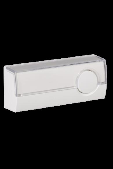 Csengő nyomógomb, fehér, 230V, IP44, PDJ-213