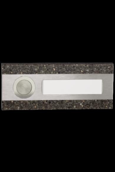Csengő nyomógomb, barna kő utánzat, 50V, IP20, PDK-250/1-BRA
