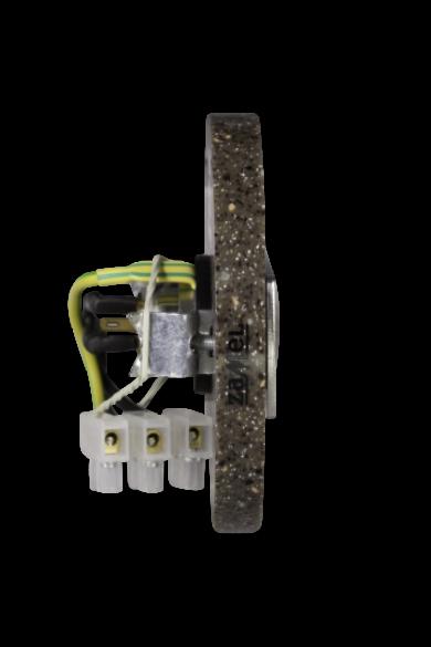 Csengő nyomógomb, LED háttérvilágítás, bézs kő utánzat, 230V, IP20, PDK-252-BRA