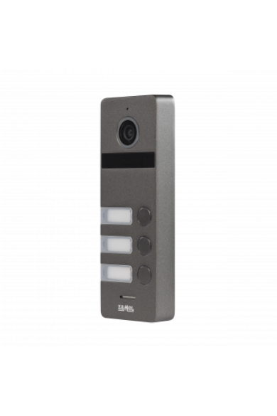 Három nyomógombos kültéri video csengőpanel, 800x480, IP66, ezüst-szürke, VO-803S