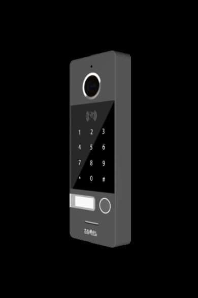 Egy nyomógombos kültéri video csengőpanel, numerikus, RFID, 800x480, IP66, ezüst-szürke VO-812IDSP