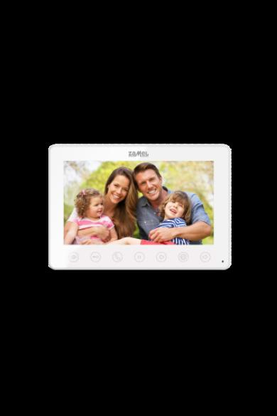 """7"""" színes, LCD videó kaputelefon monitor, fehér, 800x480px, VP-807W"""