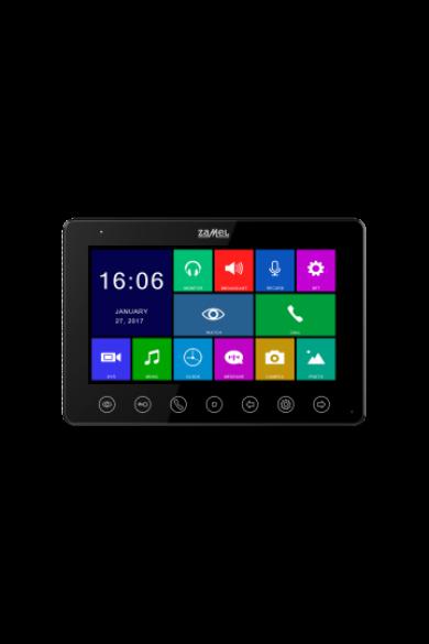 "7"" színes, LCD videó kaputelefon monitor, DVR funkció, WiFi, fekete, 800x480px, VP-808B"