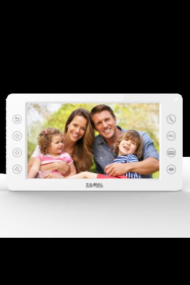 """7"""" színes, LCD videó kaputelefon monitor, WiFi, fehér, 800x480px, VP-819B"""