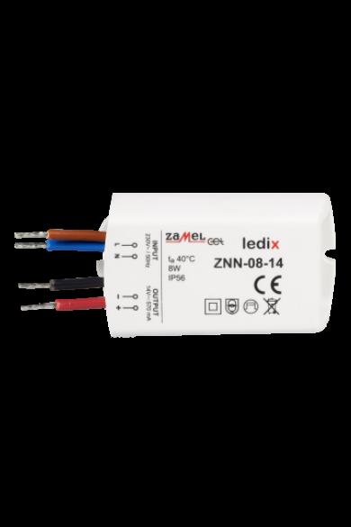 LED tápegység; felületre szerelhető; 14V DC; 8W; IP56 (Ledix)