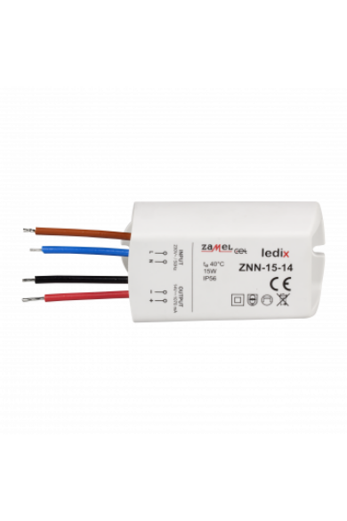 LED tápegység; felületre szerelhető; 14V DC; 15W; IP56 (Ledix)