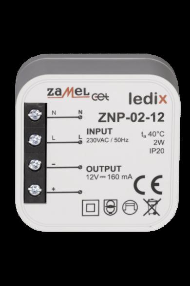 ZNP-02-12 LED tápegység; kötődobozba; 12V DC; 2W