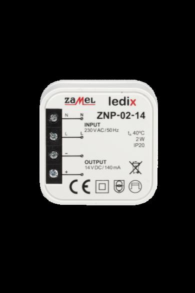 ZNP-02-14 LED tápegység; kötődobozba; 14V DC; 2W (Ledix)