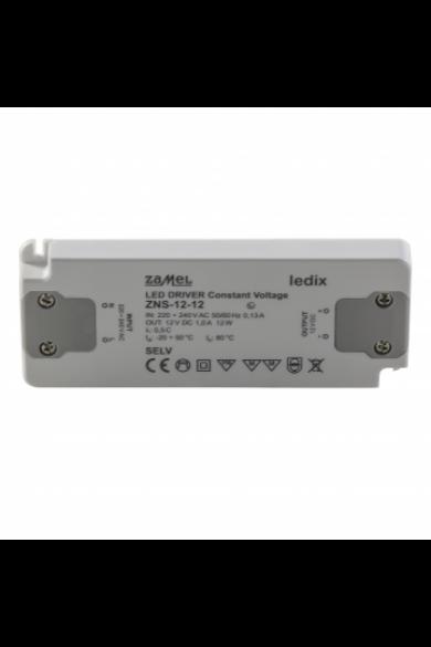 ZNS-12-12 SLIM LED tápegység, 12V DC, 12W