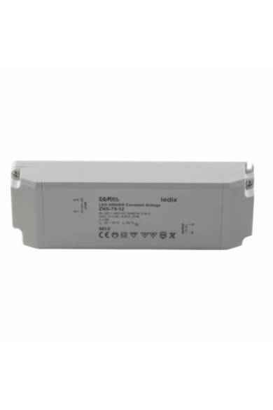ZNS-75-12 SLIM LED tápegység, 12V DC, 75W